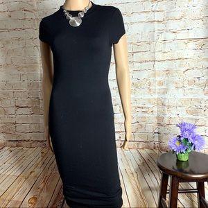 Black Bead Bodycon Little Black Dress